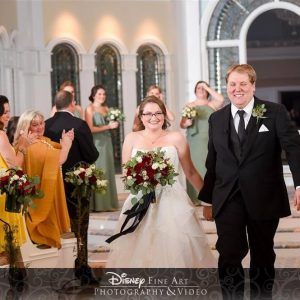 A night-time ceremony at Disney's Wedding Pavilion is truly magical!
